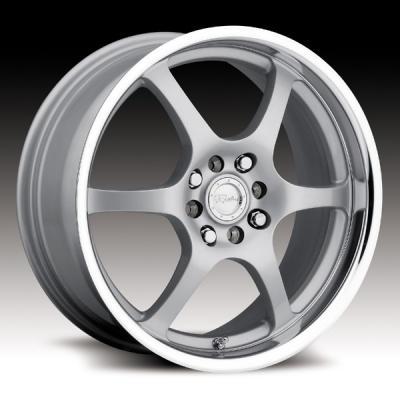 126 Silver/Mirror Lip Tires
